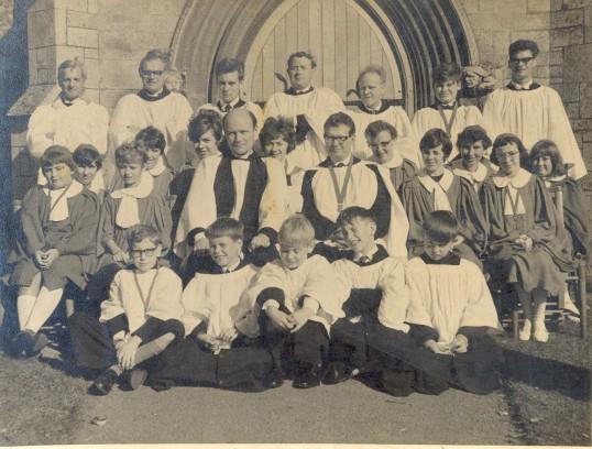 Choir of St Mary's Church, Eaton Socon in 1967