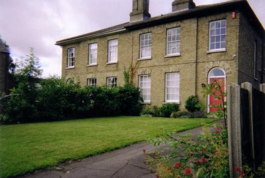 Berkeley Street, in July 2007 - one of these houses was Eynesbury Vicarage