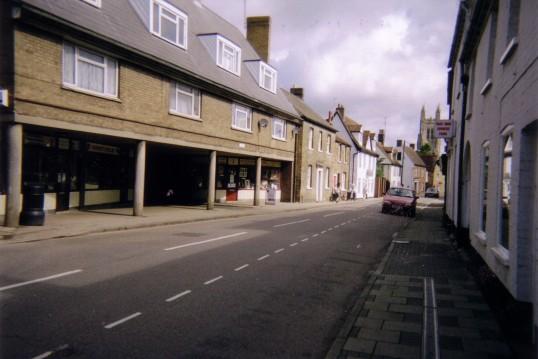 Shops in Berkeley Street, Eynesbury in July 2007