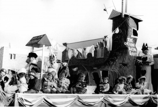 Mrs Terry's Playgroup Float in St Neots Carnival, about 1969