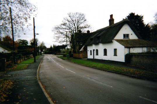 View along Little Paxton High Street in November 2007