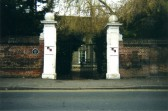 Entrance gates to The Shrubbery, Church Street, St Neots in December 2007