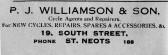 Williamson Cycle Agents advert, St Marys, St Neots Parish Magazine,