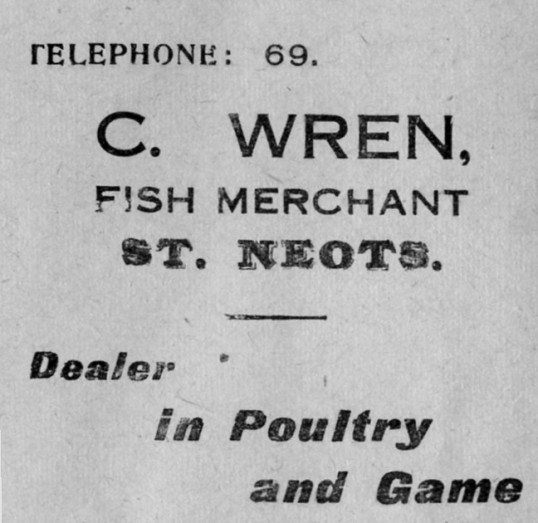 Wrens advert, St Marys St Neots Parish Magazine, March 1957