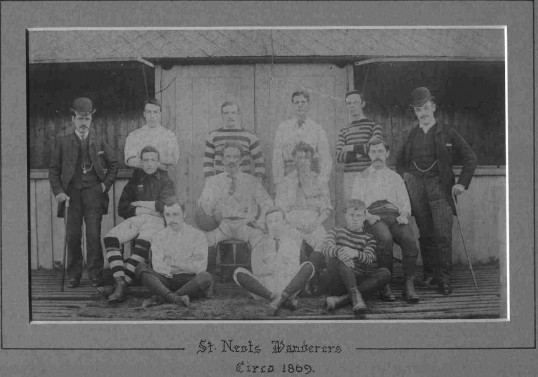 St Neots Wanderers football team c1869.