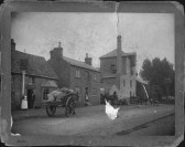 Eaton Socon Brewery & Eagle Pub, around 1905. Laden Horse drawn cart outside pub and brewery.