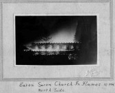 Eaton Socon Parish Church fire on 8th February 1930.