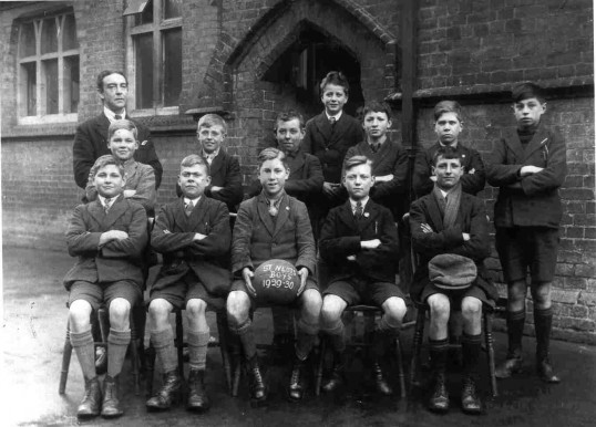 St Neots Boys School Football Team 1929-30.