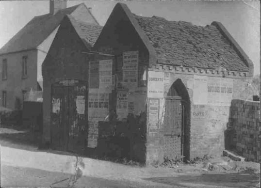 Eaton Socon Lock Up and the Fire Engine House next door, in School Lane, Eaton Socon, around 1900