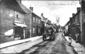 Eynesbury - St Mary's St, looking towards St Mary's Church, St Neots, in the early 1900s