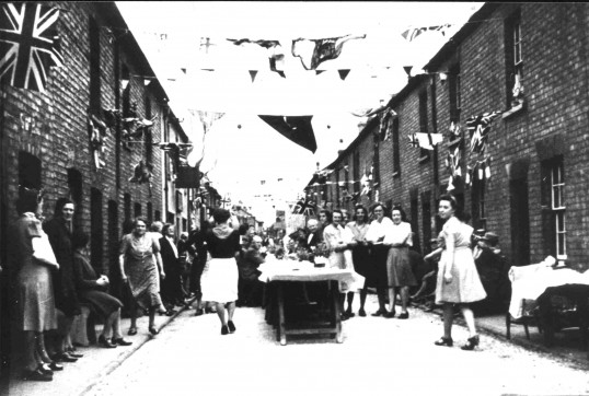 Russell Street VE Day celebrations in St Neots in 1945