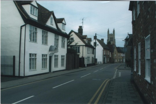 St Mary's Street Eynesbury looking north towards St Marys Church, St Neots, in 2007