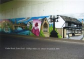 Eaton Ford, Duloe Road, A1 Underpass in 2006 - Mural of St Neots with Mr Rowley, Lord of Manor,
