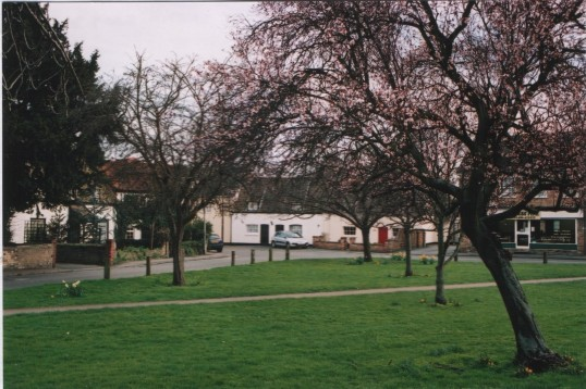 Eaton Socon Village Green looking south, in March 2007.