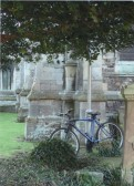 Lost bicycle turns up at St Marys church St Neots whilst owner prays for a perfect web site! - 2007