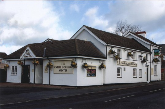 The Cambridgeshire Hunter Public House in Barford Road, Eynesbury in 2007.