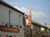 Lord John Russell public house sign, in Russell Street, St Neots in June 2007 (P Ibbett)