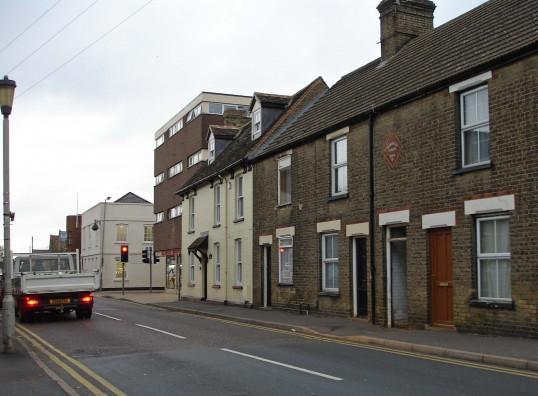 Franksville Terrace, Church Street, St.Neots looking towards Huntingdon Street, in October 2006 (Shirley Kevern)
