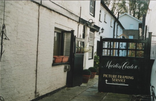 Martin Coates Picture Framer in February 2007, Market Square, St. Neots.