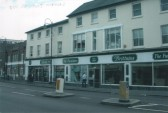 Brittains Furnishers, High Street, St Neots in March 2006.