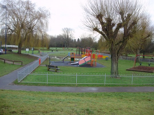 RIverside Car Park Play Area, Eaton Ford in January 2011 (P.Ibbett)