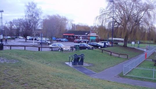 RIverside Car Park Play Area, Eaton Ford in January 2011 (P.Ibbett)