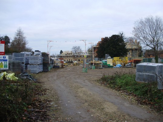 Sheltered Housing building site in Cemetery Lane, St Neots in January 2011 (P.Ibbett)