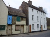 Building Restoration to a very small old cottage next to the former Bushel and Strike Public House, Brook St, St Neots in Jan 2011 (P.Ibbett)