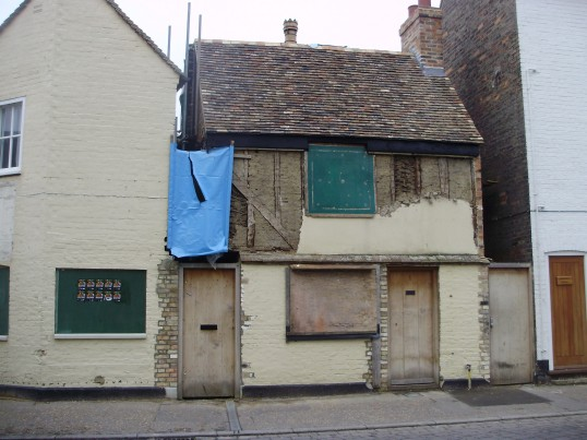 Building Restoration, Brook St, St Neots in January 2011 (P.Ibbett)
