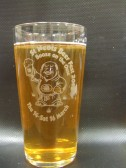 A beer glass for St Neots Beer Festival 2013 held at the Priory Centre