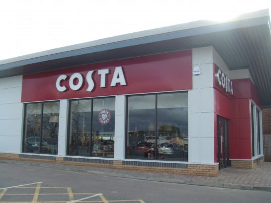 The Costa Coffee shop in Eaton Socon, next to KFC, opened January 30th 2013