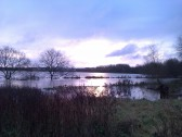 Early morning view of Eaton Socon Flood