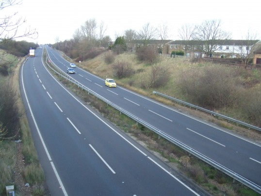 A1 from Bushmead Rd flyover 17th Feb 2013 pic 4jpg