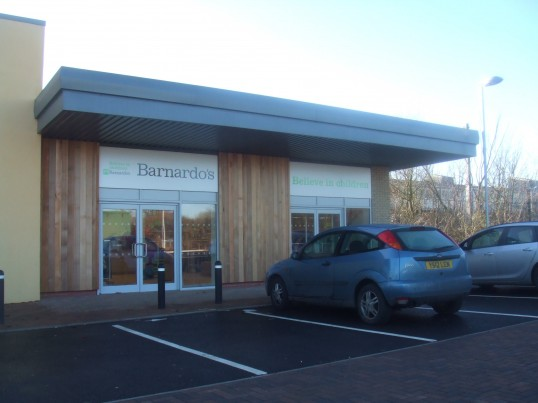 Dr Barnardos Shop next to Tesco Express on the Loves Farm estate - opened Dec 2013