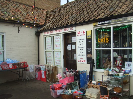 M & K Stationers, the card shop in Cross Keys Mews - 9th December 2013 - closing down sale