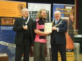 Beer Festival Awards at the St Neots Beer Festival - one of the awards presented to the Pig n'Falcon March 14th 2013