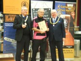 Beer Festival Awards St Neots 2013 - one of the awards given to the Pig n'Falcon on March 14th 2013