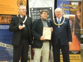 Beer Festival Awards St Neots 2013 - one of the awards given to the Crown and Cushion, Great Gransden