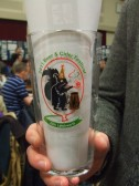 Beer festival glass for 2011 from Letchworth in use at the St Neots Beer Festival March 14th 2013