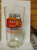 Back of the St Neots Beer Festival glass for 2012 used at the St Neots Beer Festival in March 2013