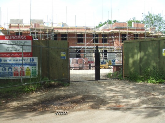 Housing complex in Cemetery Road, St Neots - June 17th 2013