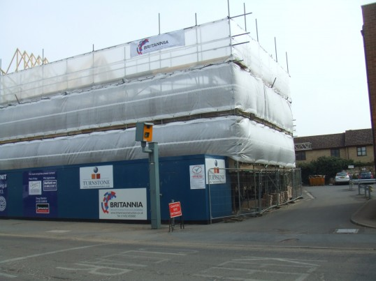 Cinema site - view of the restaurants in Huntingdon Street on April 8th 2013