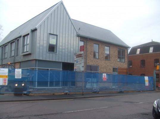 Cinema site - view of the new restaurants in Huntingdon Street on December 13th 2013