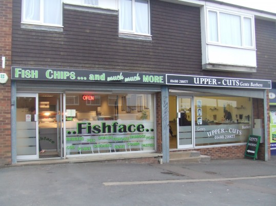 Fishface fish and chip shop next to Upper Cuts in Andrew Road, Eynesbury June 18th 2013
