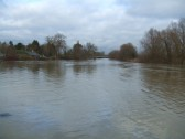 Flooding on Christmas Day 2012 - view towards the Rivermill and Willow Bridge