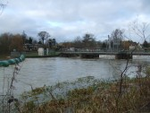 Flooding on Christmas Day 2012 - view towards the Weir and the Rivermill