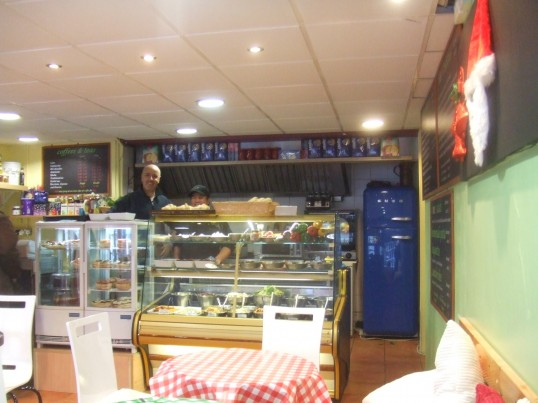 Fresco Deli in Cross Keys Mews - with its very helpful smiling staff in its first week of opening - December 2013