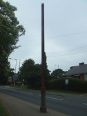 An old lamp post in Mill Hill Road, Eaton Ford, near the top of the hill - July 2nd 2013