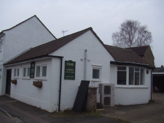 Plough Public House, Eynesbury - looking at the side view - March 6th 2013
