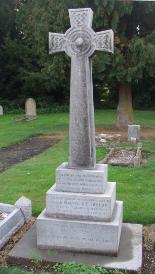 A celtic cross memorial to a brave young Scottish soldier - Walter Taylor, died August 1914